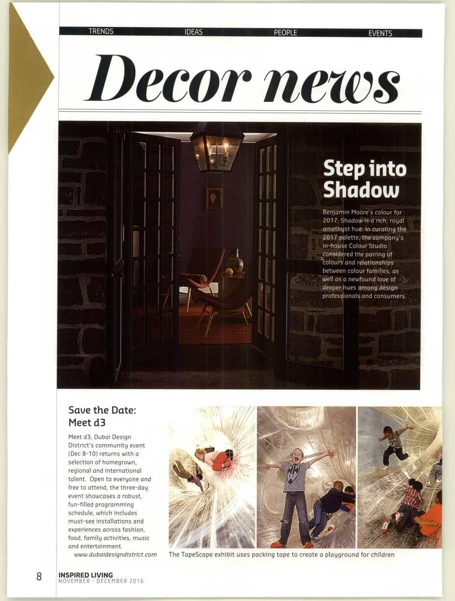 Benjamin Moore - Inspired Living - December 2016 - Page 8