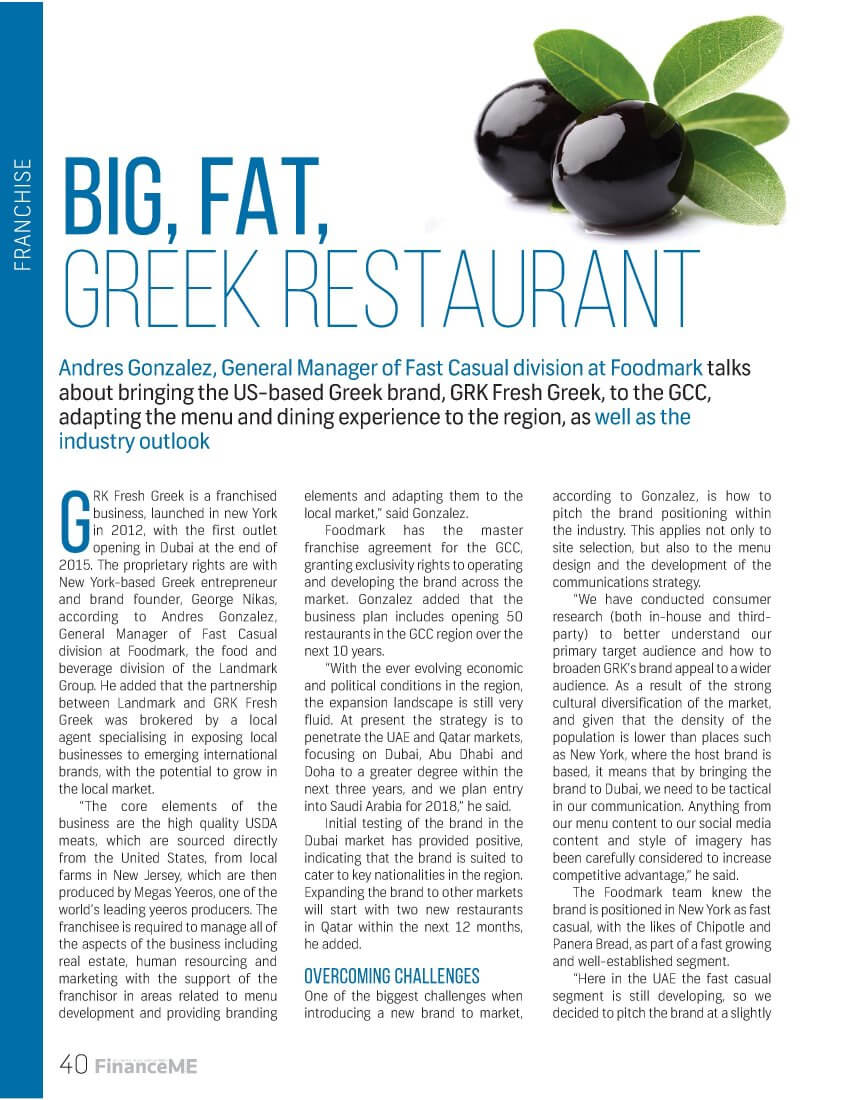 GRK Fresh Greek - Finance ME - September 2016 - Page 40