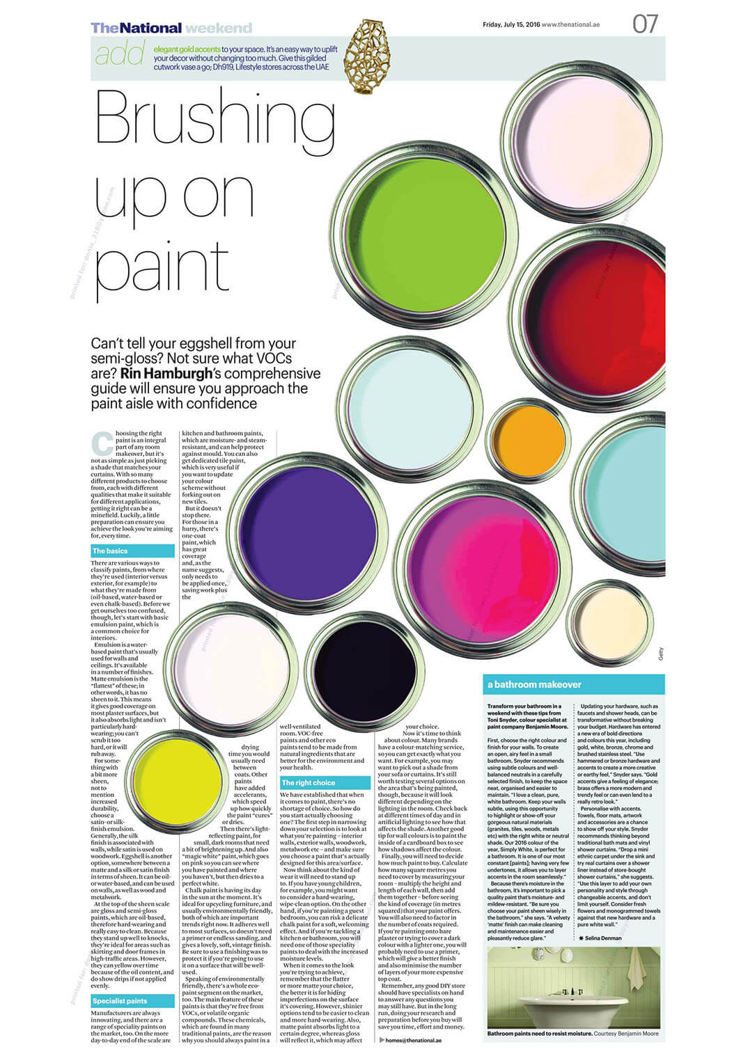 Benjamin Moore - The National - Weekend - 15 July 2016 - Page 7
