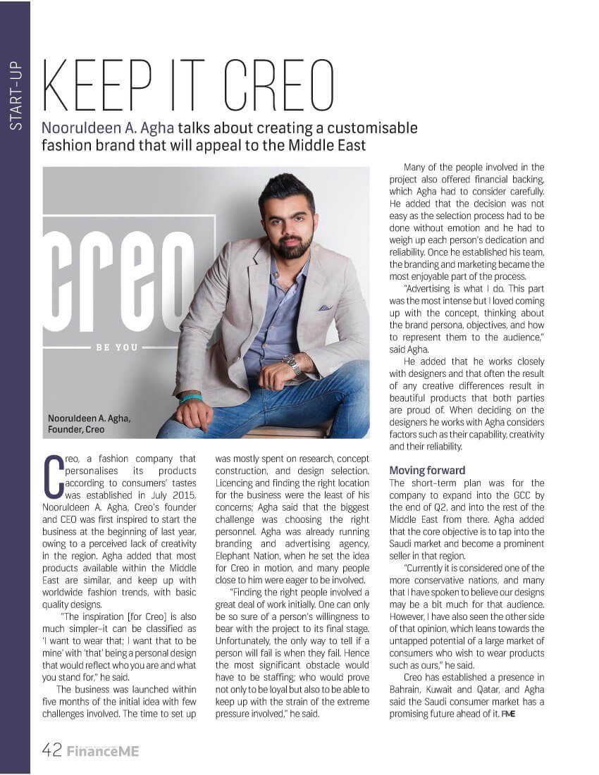 Creo - Finance ME - September 2016 - Page 42