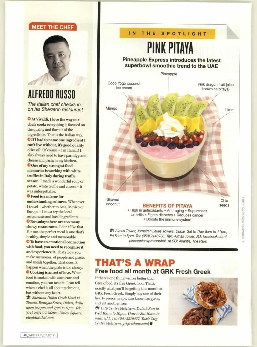 GRK Fresh Greek - What's On Dubai - January 2017 - Page 46