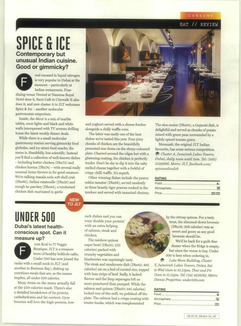 Under500 - What's On Dubai - August 2016 - Page 47